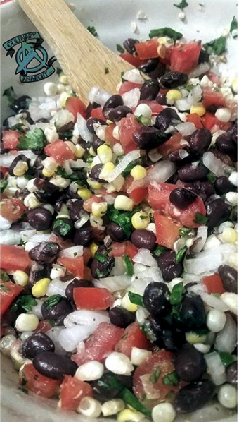White corn and blackbean Salsa