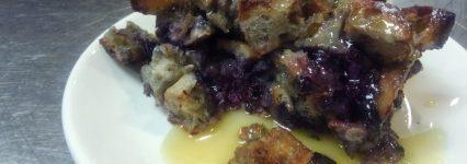 Blueberry Bourbon bread pudding